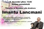 <strong>2013.12.06. &#8211; Tikšanās ar IMANTU LANCMANI, Rundāles pils direktoru</strong>