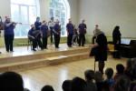 Britta Band no Baldones sociālās aprūpes centra koncertē Stelpē