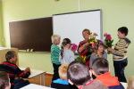 Dzejniece Gina Viegliņa-Valliete viesojas Stelpes skolā