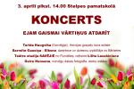 <strong>2015.04.03. &#8211; Koncerts EJAM GAISMAI VĀRTIŅUS ATDARĪT</strong>